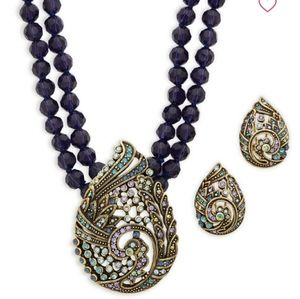 HEIDI DAUS NECKLACE AND EARRINGS